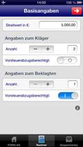 Prozesskosten- und Vergleichsrechner als App von FORIS